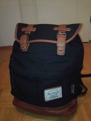 Mochila escolar negro-marrón Algodón