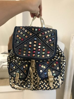 Plecak złoto-niebieski
