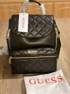 Guess Trekking Backpack black imitation leather