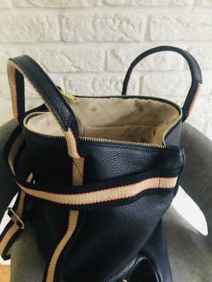 Borse in Pelle Italy Laptop Backpack dark blue leather