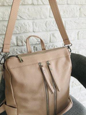 Rucksack Handtasche Ledertasche puder leder neu
