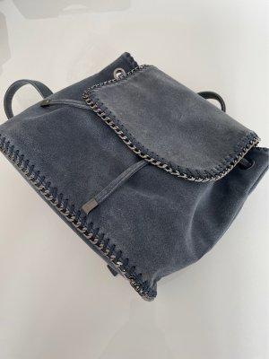 Rucksack in Jeansfarbe mit Silber