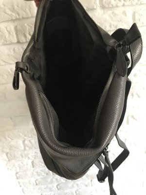 Borse in Pelle Italy Laptop Backpack dark grey leather