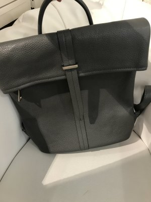Borse in Pelle Italy Laptop Backpack grey leather
