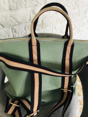 Borse in Pelle Italy Laptop Backpack pale green leather