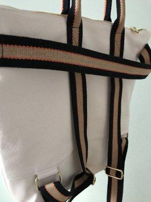 Rucksack Lederrucksack Handtasche 2 in 1 weiß neu