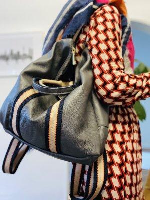 Rucksack Lederrucksack Handtasche Ledertasche 2 in 1 Asphaltgrau