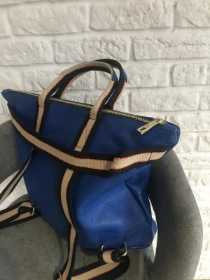 Borse in Pelle Italy Laptop Backpack blue leather