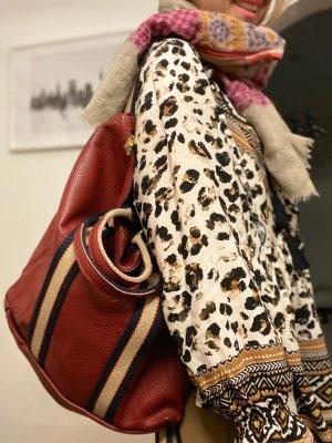 Rucksack Lederrucksack Handtasche Ledertasche 2 in 1 Bordo