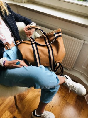 Rucksack Lederrucksack Handtasche Ledertasche 2 in 1 camel
