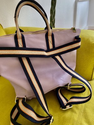 Borse in Pelle Italy Laptop Backpack light pink leather
