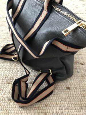 Rucksack Lederrucksack Handtasche Ledertasche 2 in 1 grau