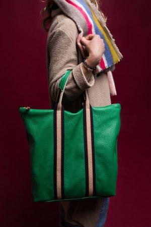 Rucksack Lederrucksack Handtasche Ledertasche 2 in 1 grün