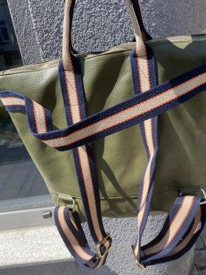 Börse in Pelle Sac à dos pour ordinateur portable vert olive cuir