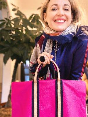 Rucksack Lederrucksack Handtasche Ledertasche 2 in 1 Pink