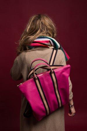 Borse in Pelle Italy Sac à dos pour ordinateur portable rose cuir