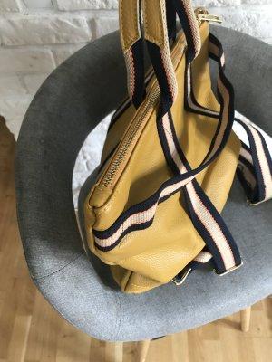 Rucksack Lederrucksack Handtasche Ledertasche 2 in 1 Senf
