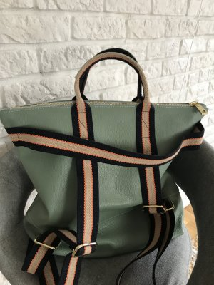 Borse in Pelle Italy Sac à dos pour ordinateur portable vert clair cuir