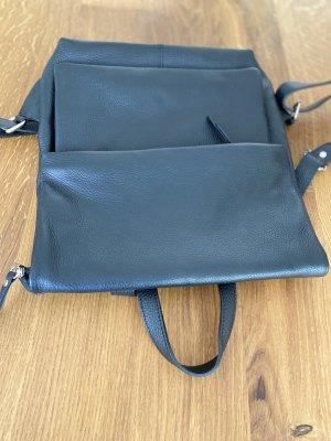 Rucksack Lederrucksack Handtasche Ledertasche schwarz minimalistisch