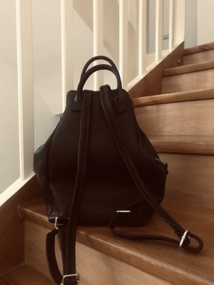 Borse in Pelle Italy School Backpack black leather