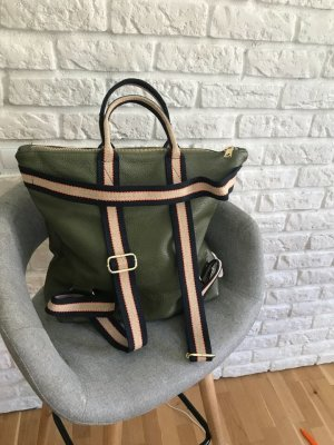 Borse in Pelle Italy Laptop Backpack olive green leather