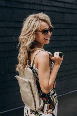 Rucksack  Lederrucksack Handtasche Tasche leder beige neu