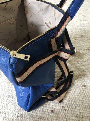 Rucksack Lederrucksack Tasche Handtasche 2 in 1 leder blau