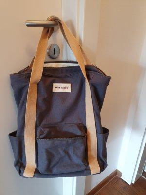 Miss Wood Sac à dos pour ordinateur portable bleu-gris tissu mixte