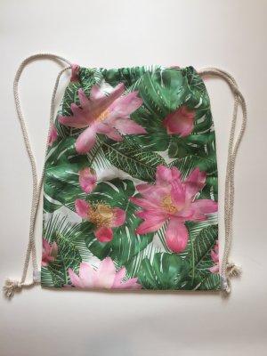 Rucksack mit Blumenmuster Stofftasche