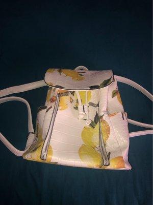 School Backpack white-yellow