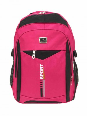 School Backpack pink polyester