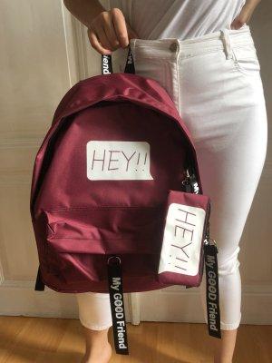 School Backpack purple