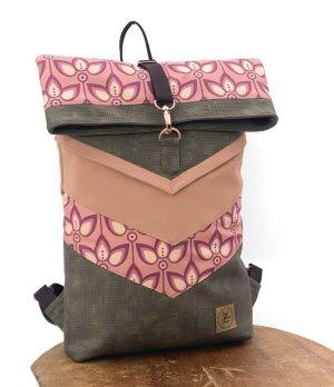 Peak - Fine - Design Rolltop Backpack apricot-brown
