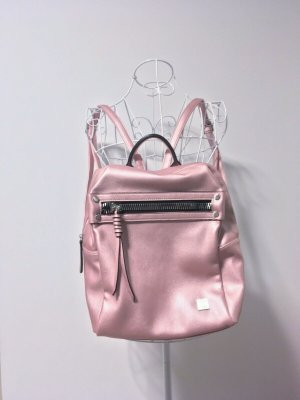 School Backpack rose-gold-coloured-pink imitation leather