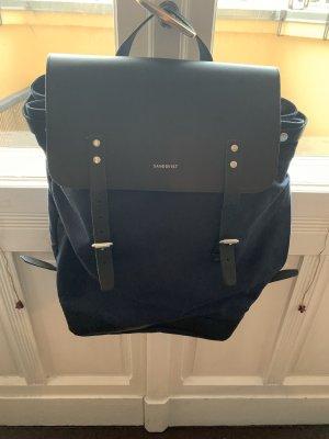 Sandqvist Sac à dos pour ordinateur portable noir-bleu foncé