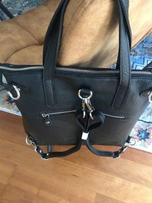 Rucksack Tasche Ledertasche Handtasche schwarz neu