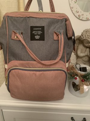 School Backpack light grey-rose-gold-coloured