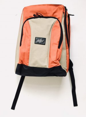 School Backpack black-beige