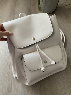Pull & Bear Sac à dos à roulettes blanc