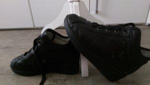 Sneaker con zeppa nero