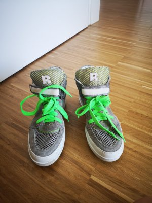 Ruco Line Heel Sneakers silver-colored-neon green
