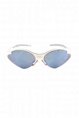 Oval Sunglasses blue-silver-colored casual look