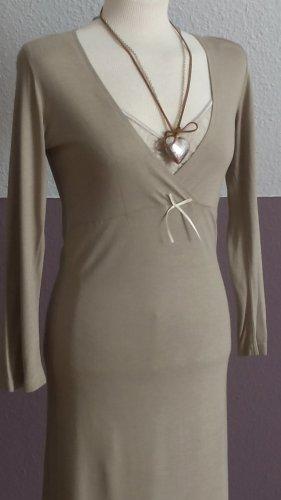 Empire Dress cream-sand brown