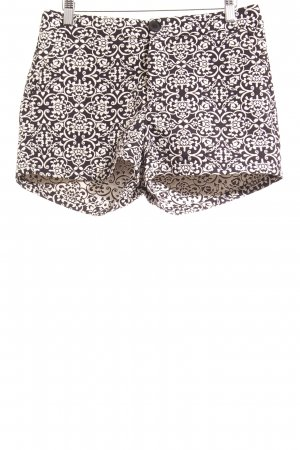 Rue21 Hot Pants schwarz-creme Ornamentenmuster Casual-Look