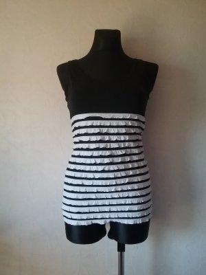 Amisu Ribbed Shirt white-black