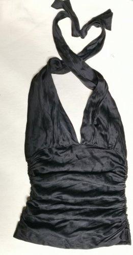 Dolce & Gabbana Haut en soie noir soie