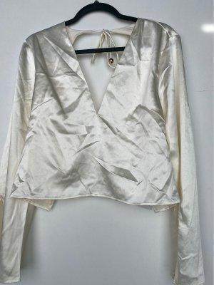 sabo luxe Top schiena coperta bianco sporco-oro