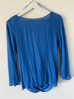 Zara Wraparound Blouse blue