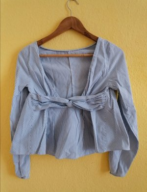 H&M Backless Top white-azure