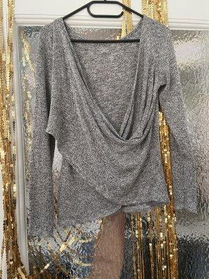 Urban Outfitters Maglia con scollo a cappuccio grigio chiaro-grigio